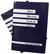 Open Meeting Laws 3d - two volume set